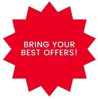 BRING YOUR BEST OFFERS!