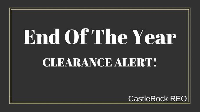 END OF THE YEAR CLEARANCE ALERT!