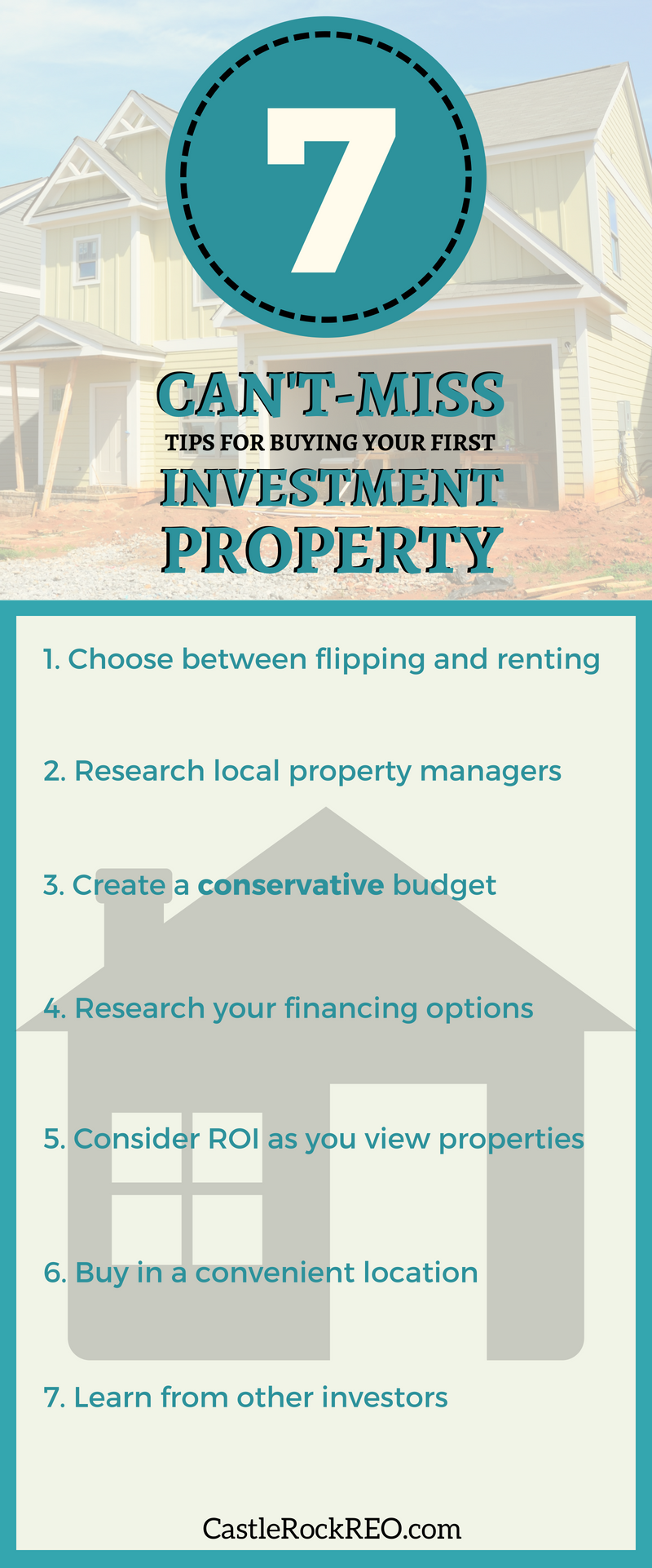 Graphic - 7 tips for first-time real estate investors